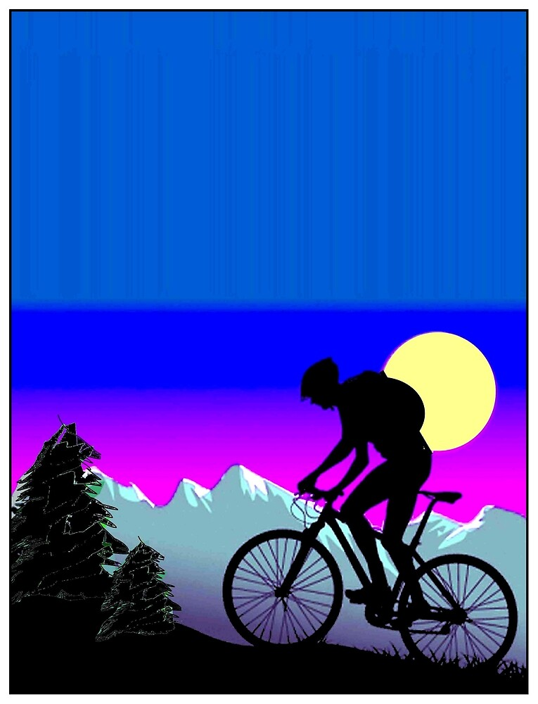BICYCLE RIDE: The Whimsical Psychedelic Mountains by posterbobs