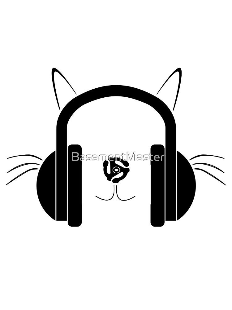 cat with headphones logo