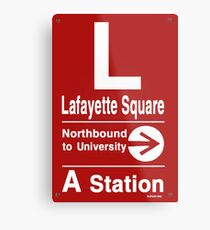 Lafayette Square Northbound Metal Print