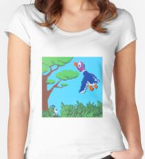 Duck Hunt Purple (Paint 'N' Beads) Women's Fitted Scoop T-Shirt