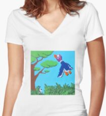 Duck Hunt Purple (Paint 'N' Beads) Women's Fitted V-Neck T-Shirt