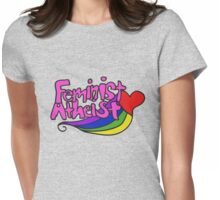 Feminist Atheist Womens Fitted T-Shirt