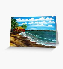 Down By The Shore Greeting Card
