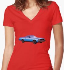 1973 El Camino Northern California Women's Fitted V-Neck T-Shirt
