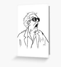 bttf greeting cards redbubble Back to the Future Toys back to the future doc emmett brown sketch greeting card