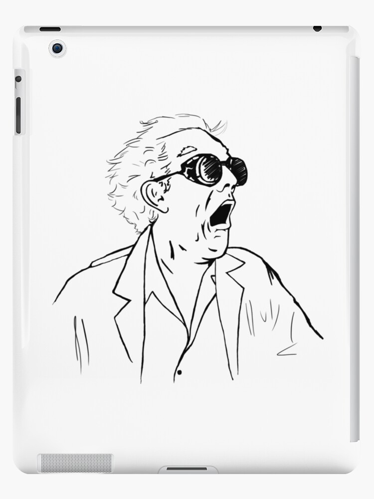 Back To The Future Doc Emmett Brown Sketch Ipad Cases Skins By