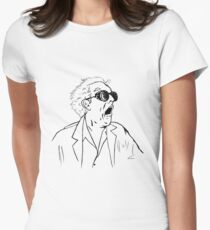 Back To The Future Doc Emmett Brown Sketch Womens Fitted T-Shirt