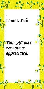 Thank You Sticker or Card - Yellow by laver65
