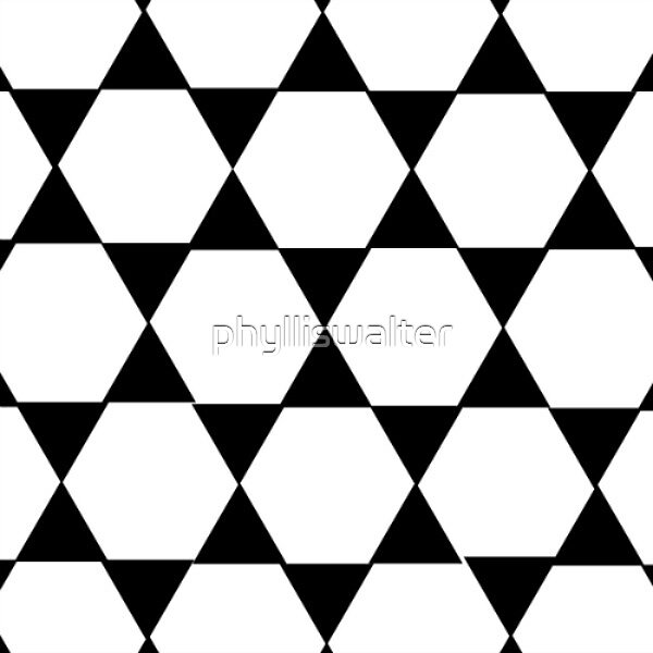 Pentagons, Black and White by phylliswalter