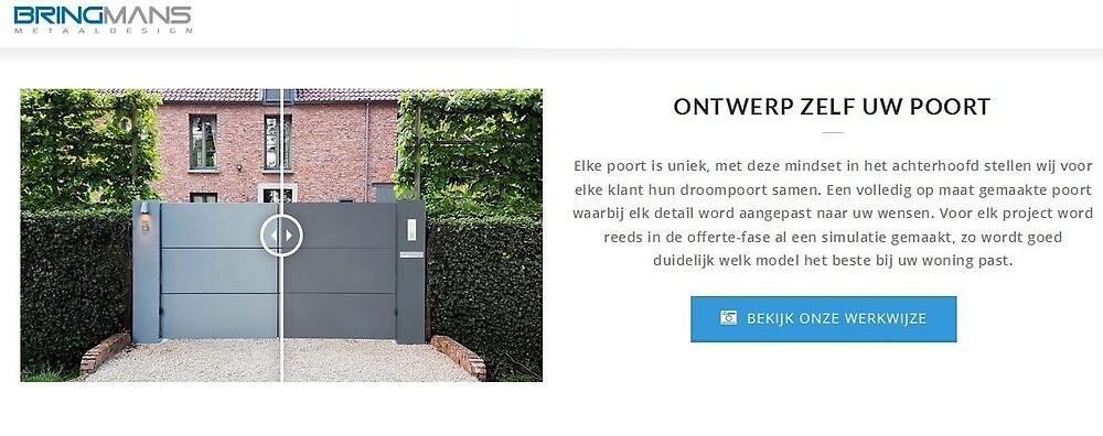 Moderne design vleugelpoorten online bij moderne-poorten.be by bringmans