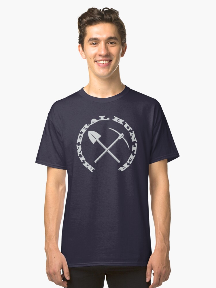 Mineral Hunter - White Logo Classic T-Shirt Front