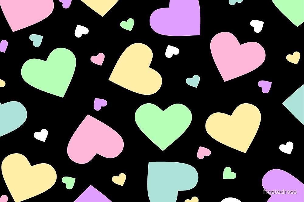 Lolita Hearts - Borderless by frostedrose