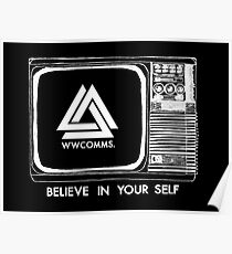 wwcomms believe (white) Poster