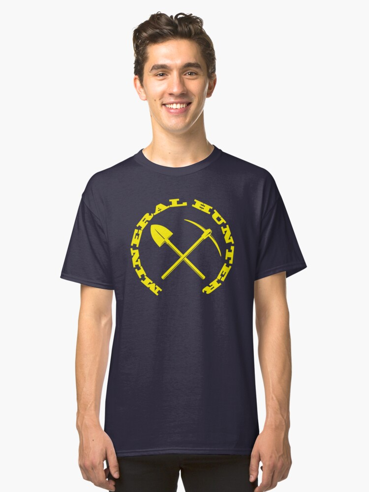 Mineral Hunter - Yellow Logo Classic T-Shirt Front