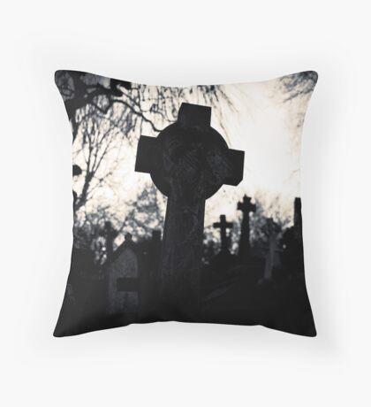 Cemetery Cross by Amanda Norman Throw Pillow