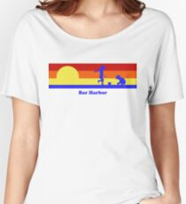 Bar Harbor Maine Sunset Beach Vacation Souvenir Women's Relaxed Fit T-Shirt
