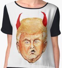 Devil Donald Women's Chiffon Top