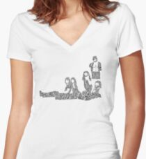 Fleetwood Mac - Rumours // Typographical Ilustration Women's Fitted V-Neck T-Shirt