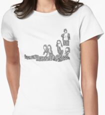 Fleetwood Mac - Rumours // Typographical Ilustration Women's Fitted T-Shirt