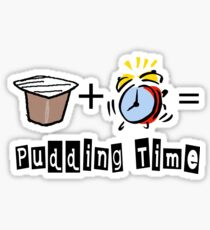 Pudding time Sticker