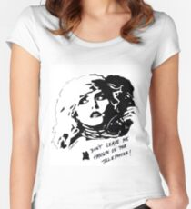 Debby Harry Blondie Hanging on The Telephone Women's Fitted Scoop T-Shirt