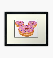Mouse Donut Framed Print