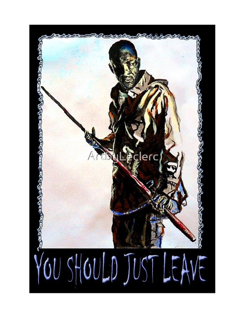 Walking Dead Morgan- Just leave by ArtbyLeclerc
