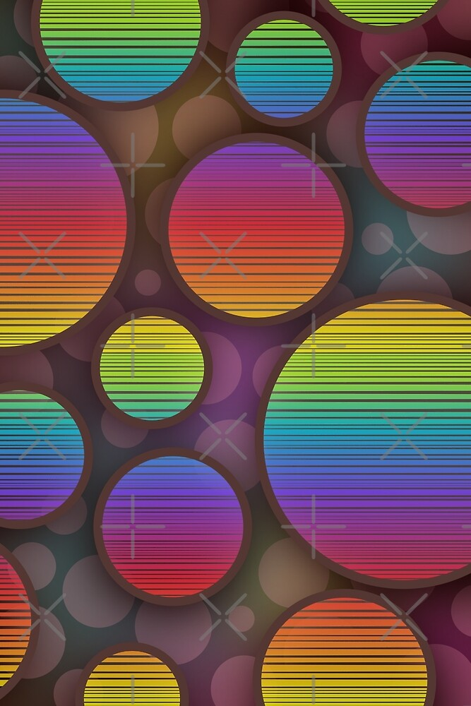 Colorful abstract circles artwork by pixxart