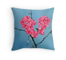 Heart Blooming Flowers  Throw Pillow