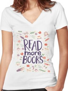 Read more books Women's Fitted V-Neck T-Shirt