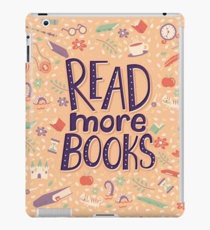 Read more books iPad Case/Skin