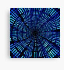 blue dot  squirl Canvas Print