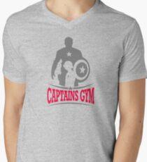 Captains Gym Mens V-Neck T-Shirt