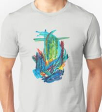 Abstract design Watercolor Hand Painted Shape Doodle Unisex T-Shirt