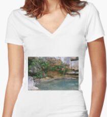 Well Campdevanol River Women's Fitted V-Neck T-Shirt