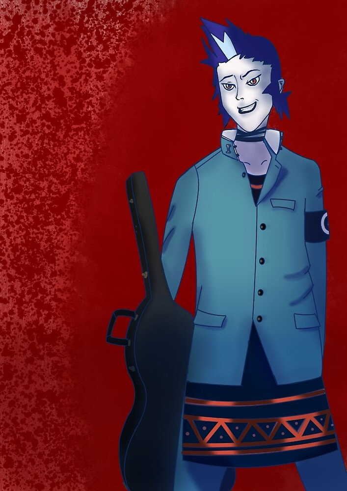 Persona 2 - Eikichi Mishina w/ Background by Jagmantis