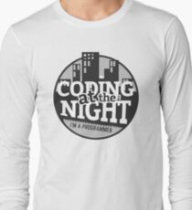 Coding At The Night Long Sleeve T-Shirt