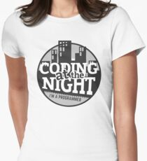 Coding At The Night Women's Fitted T-Shirt
