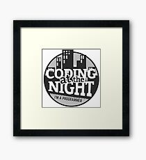 Coding At The Night Framed Print