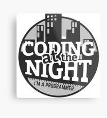 Coding At The Night Metal Print