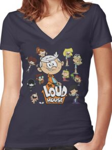 The Loud House - Family Women's Fitted V-Neck T-Shirt