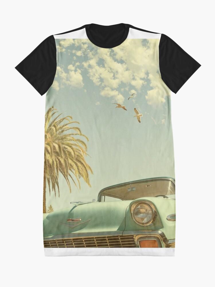Vista alternativa de Vestido camiseta Divertirse, ojalá estuvieras aquí