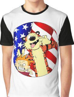Calvin and hobbes america Graphic T-Shirt