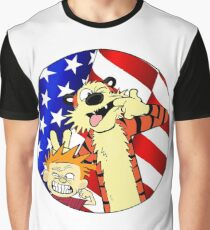 Calvin and hobbes america Graphic T-Shirt