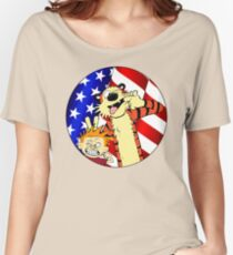 Calvin and hobbes america Women's Relaxed Fit T-Shirt