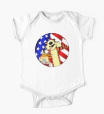 Calvin and hobbes america One Piece - Short Sleeve