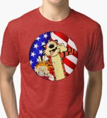 Calvin and hobbes america Tri-blend T-Shirt