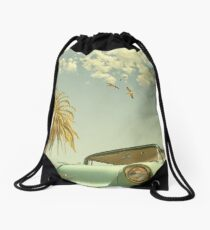 Having Fun, Wish You Were Here Drawstring Bag