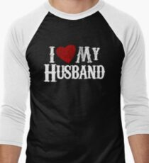 i love my husband Men's Baseball ¾ T-Shirt