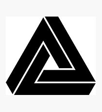 Penrose triangle Photographic Print